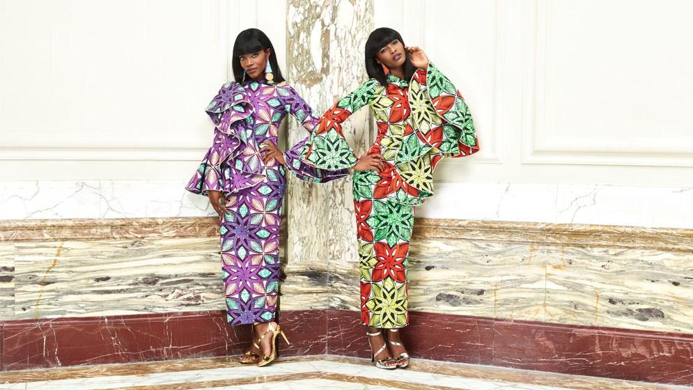 Vlisco S3 2017 campaign with ankara fabric