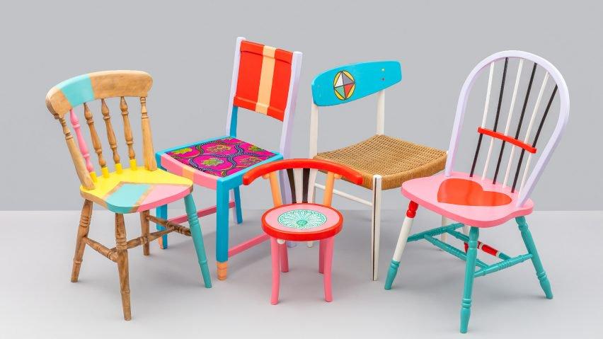 Yinka Ilori recycled chairs
